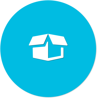 Icon (blue flat) - Out of the Box