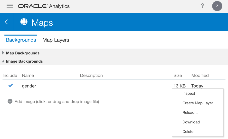 Oracle Analytics Data Map Layer (Create Map Layer)