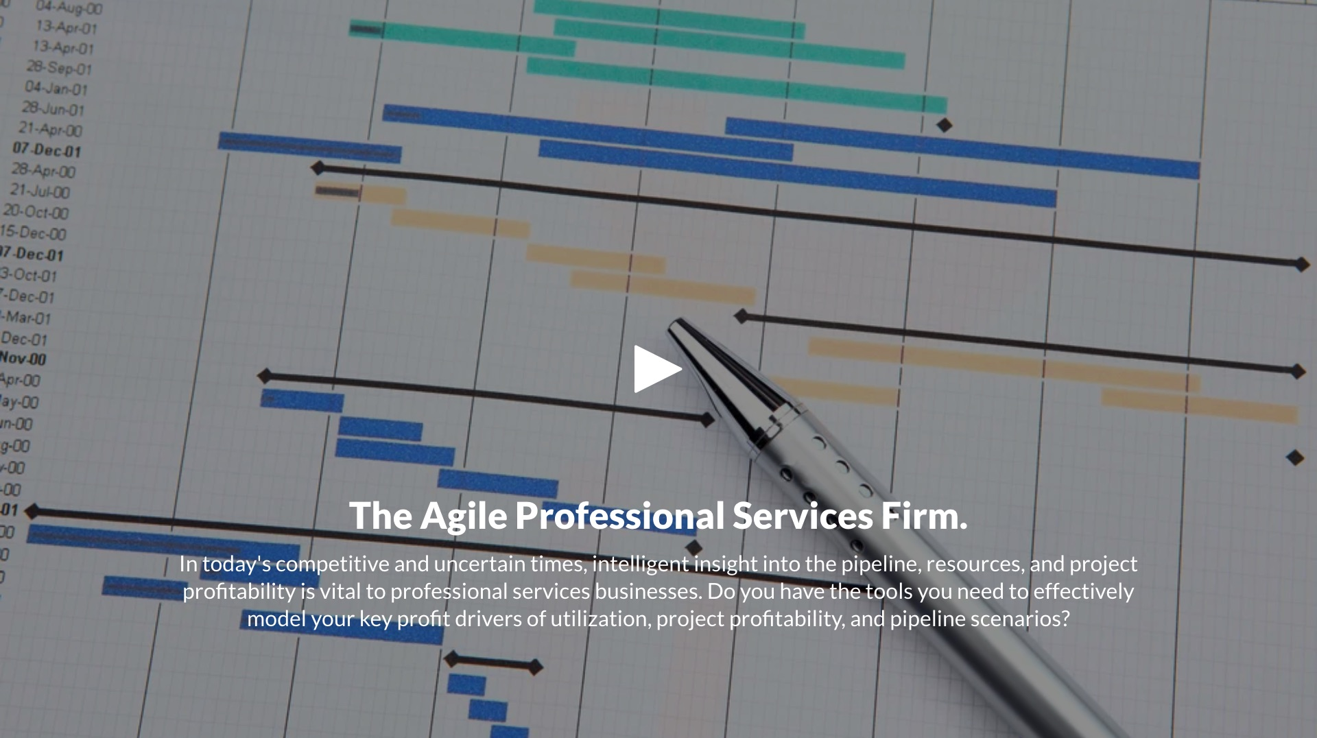 The Agile Professional Services Firm Webcast